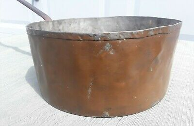 Vintage Hand Made Copper Pot  w/Cast Iron Handle