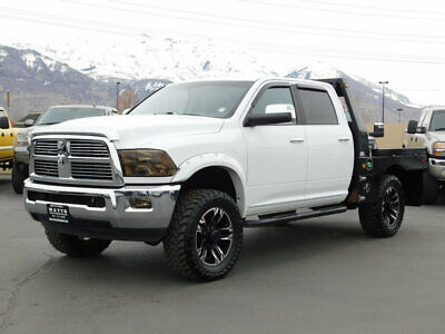 2012 Ram 3500 LARAMIE LIFTED DODGE RAM 3500 CREW CAB FLATBED LARAMIE 4X4 CUMMINS DIESEL LEATHER NAV