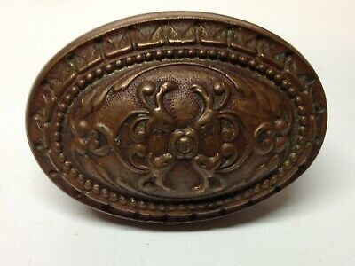 Antique Vintage Cast Bronze Victorian Ornate Oval Door Knob