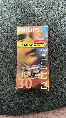 philips Executive 10 mini-cassette Tapes 30 Minutes