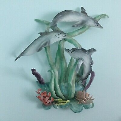 VINTAGE Dolphin Metal Wall Art - Beautiful Condition