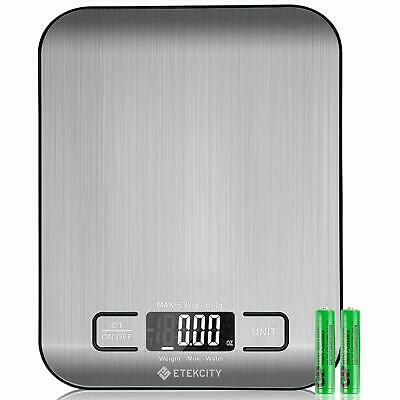 Etekcity Food Digital Kitchen Weight Scale Grams & Ounces, Small, Stainless 11lb