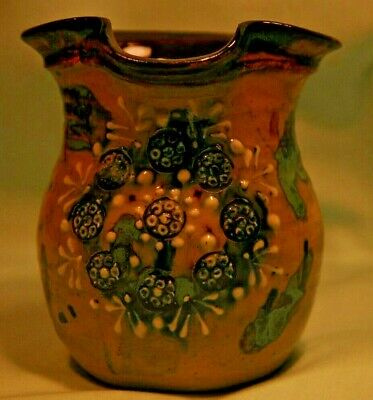 Leonard Stockley Weymouth Pottery, Milk Jug with decoration, Very Good Condition