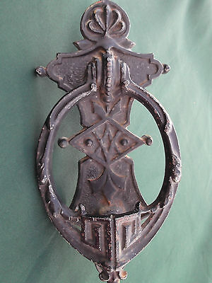 Antique Cast Iron Door Knocker A.Kenrick & Sons A.K~Victorian Gothic Reclaim