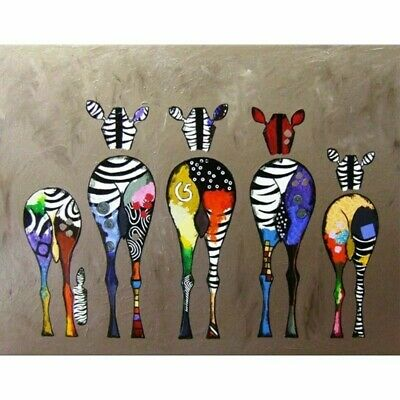 paint by number DIY kit - Zebra - 16*20 inches.( Frameless)