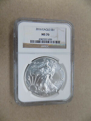 2016 $1 American Silver Eagle Ngc Ms70