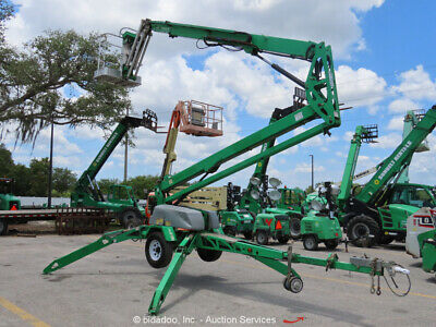 2012 Genie TZ-50 50' Electric Towable Boom Lift Man Aerial Platform bidadoo