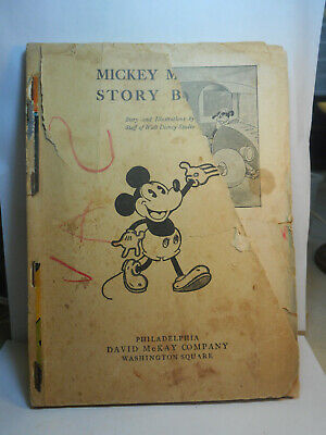 1931, Mickey Mouse Story Book, Story And Illustrations By The Walt Disney Staff