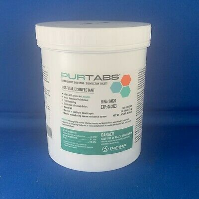 PURTABS 3.3G – Hospital Grade Disinfectant/Sanitizer 200 PURTABS/Tub