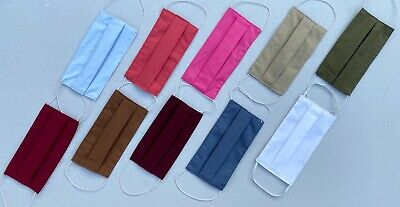 FREE FAST SHIPPING UK STOCK -  Cotton Face Cover -  Choose From 10 Colours