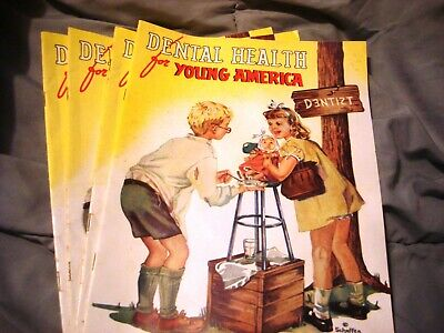 Vintage Dental Health for Young America Booklet Magazine Lot of 4