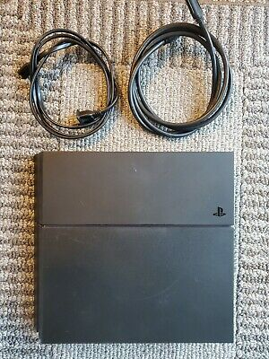 Sony Playstation 4 PS4 500GB - Black Console, HDMI + Power Cable -TESTED