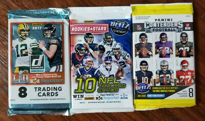 2017 NFL Triple Football Lot - 3 pack special - See details inside