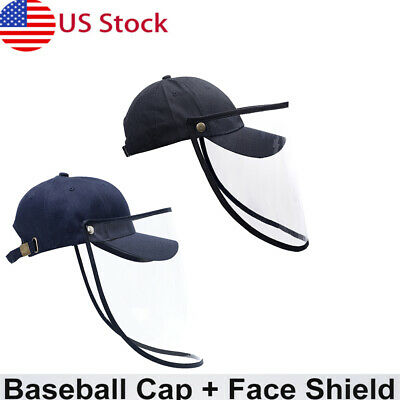 US Safety Windproof Hat Full Face Shield Protective Baseball Cap For Men Women