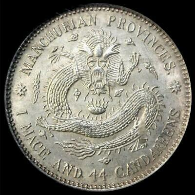1913 CHINA 20C MANCHURIAN SILVER COIN Y-213a.4~~ NGC MS62