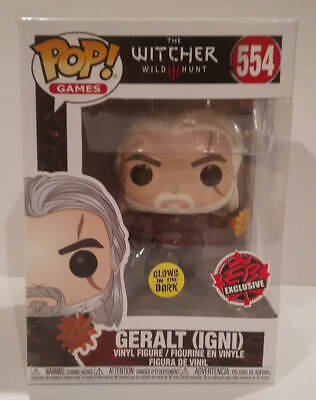 GERALT (IGNI) FUNKO POP! The Witcher Exclusive EB Games #554 *Glows In The Dark*