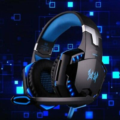 Gaming Headset MIC LED Headphones for PC SW Laptop PS4 Slim Xbox One X S UK