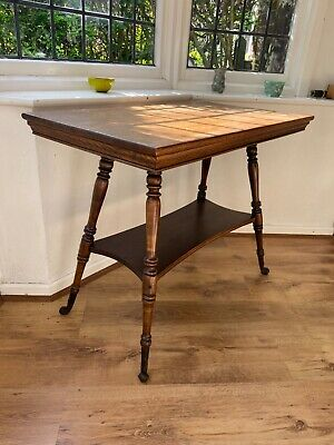 Antique Vintage Side Occasional Console Table solid Wooden with metal feet