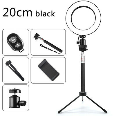 """8"""" Dimmable LED Ring Light For Studio Makeup Camera Video Lighting With Tripod~"""