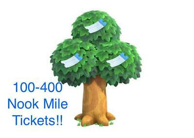 [ONLINE] 100-400 Nook Miles Tickets Animal Crossing New Horizons FAST
