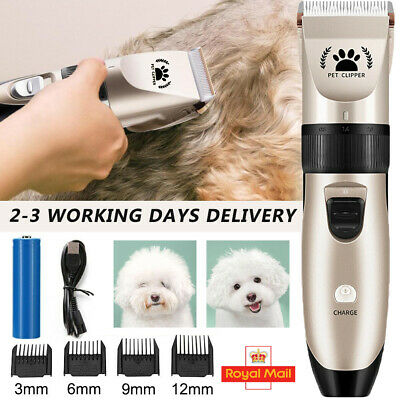 Pet Dog Grooming Clipper Kit Cat Cordless Quiet Hair Trimmer Electric Shaver Set