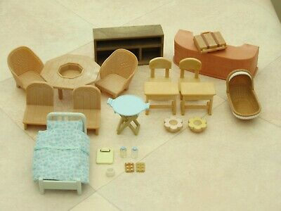 Sylvanian Families Assorted Spares Furniture Pieces Oddments Bundle