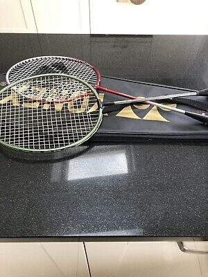 EXCELLENT CONDITION EXCELLENT QUALITY badminton rackets. CARLTON. GREAT NAME X 2