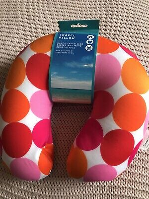Travel Pillow Pink And Orange New With Tags