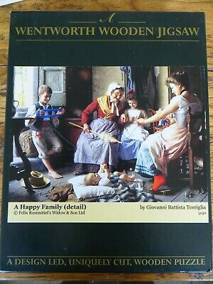 """Wentworth Wooden 250 Jigsaw Puzzle - """"A HAPPY FAMILY"""" - Used"""