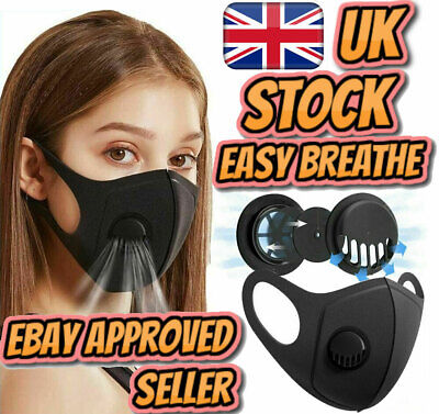 Face Mask Washable Air Purifying Nose Mouth Filter Respirator Easy Breathe Lot