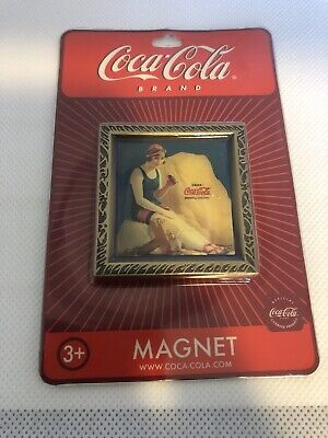 """Coca-Cola '1921 Lady with Coca-Cola on Beach"""" Magnets  LOT of 40 NOS"""