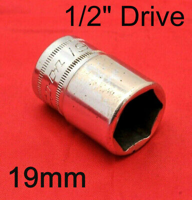 """SNAP ON 19mm SHALLOW SOCKET, 1/2"""" DRIVE, 6 POINT, USED"""