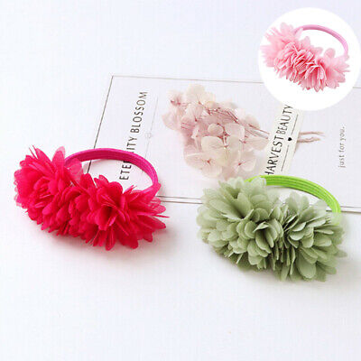 Hair Girls Elastic Clips Kids Accessories Bands Flower Multi-layer