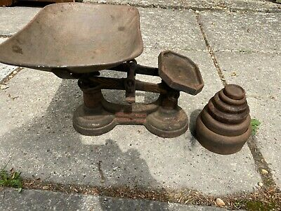 Antique Heavy J&J Siddons Ltd Weighing Scales West Bromwich + weights