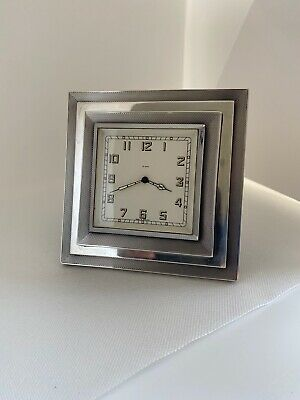 Art Deco 8 Day Silver Mantle clock 1935