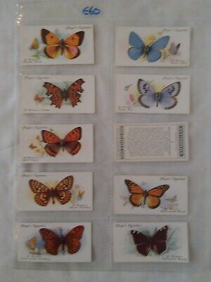 BUTTERFLIES A Series of 50 Cigarette Trading Cards By John Player & Sons