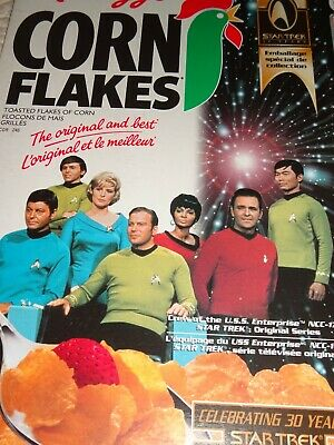 VINTAGE CEREAL BOX Kellogg's CANADIAN Corn Flakes 30 Years STAR TREK 1996