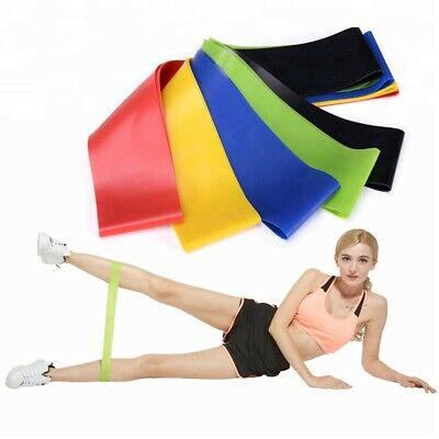 Resistance Bands Exercise Sports Loop Fitness Home Gym Yoga Latex Set Or Singles