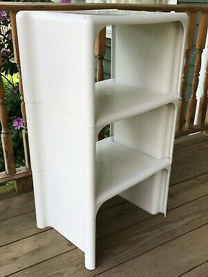 MCM Beylarian for Kartell Stacking Table Set of 3 Space Age Modular Shelf Unit