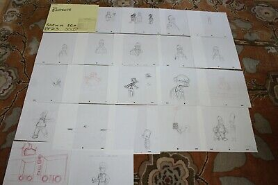 Rare The Simpsons Tv Show Original Storyboards Set Used Sketches Drawing 520