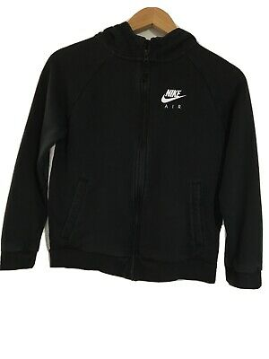GIRLS NIKE AIR MAX ZIP FRONT BLACK & WHITE HOODIE TOP JACKET SIZE M(10-12 Years)