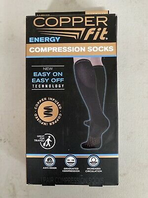 NWT Unisex Copper Fit Energy Compression Socks-S/M