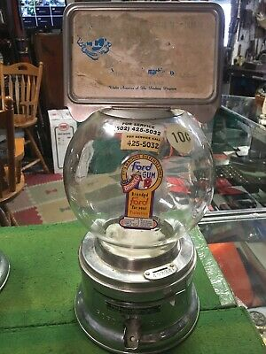 Vintage Ford 10€ Gumball Machine W/ Billboard Sign Vending Working See Pictures