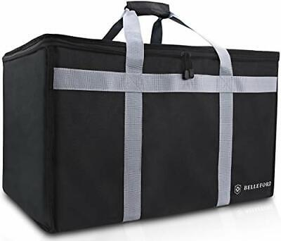 "BELLEFORD Insulated Food Delivery Bag XXL - 23x14x15"" Waterproof Grocery"