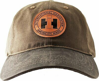 INTERNATIONAL HARVESTER *CANVAS OIL CLOTH* PATCH LOGO Hat Cap NEW! IH2646