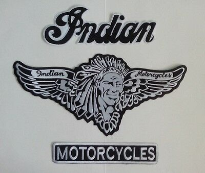 Indian motorcycle 3 piece with black white back patch A BEAUTY.NEW