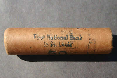 """1970 """"P"""" Lincoln Cent Original Bank Wrap Roll Rare National Bank Obw Unc Penny"""