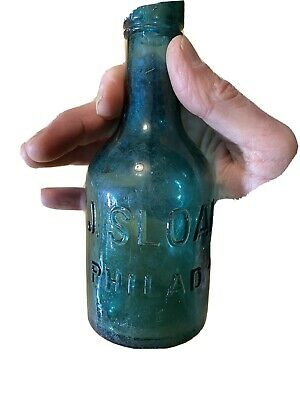 Antique / Vintage J Sloan Philadelphia  Brown Stout Beer Bottle