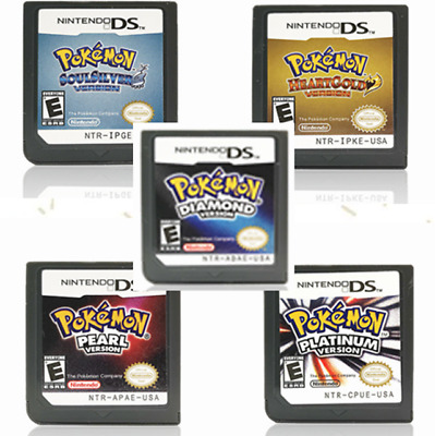 Pokemon hertgold SoulSilver Game Card for Nintendo DS 3DS NDSi NDS US Version
