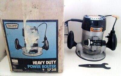 Sears Craftsman Commercial No.315.17380 Ball Bearing Router w/Original Box NICE!